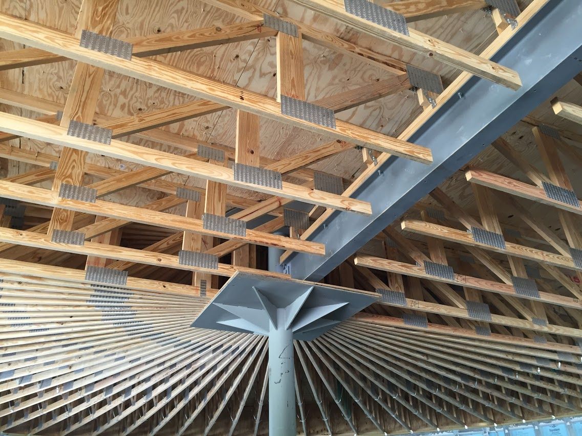 french broad academy for boys innovative structural engineering inc - Innovative Wood Beam Ceiling